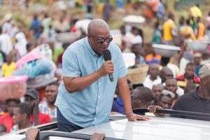 """""""Even if our thumbs are chopped off we will use our toes to vote for you""""- Asempaneye chief to John Mahama"""