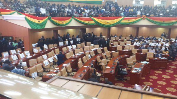 State of the Nation's Address (#SONA2020) : Minority MPs boycott Akufo-Addo's 2020 State of the Nation Address