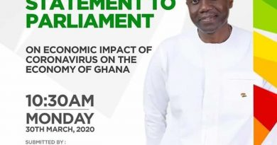 Finance Minister briefs parliament on impact of COVID-19 on Ghanaian economy