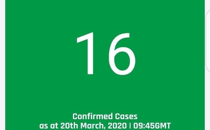 BREAKING: Confirmed cases of COVID19 in Ghana rises to 16 as at 20 March, 2020 - 09:45 GMT