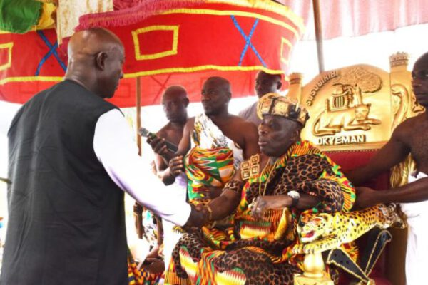 Okyenhene lauds free SHS in address at durbar to honour Trinidad and Tobago PM