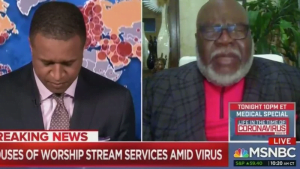 'I've Never Done This': MSNBC Host Asks Pastor T.D. Jakes to Pray on Live TV
