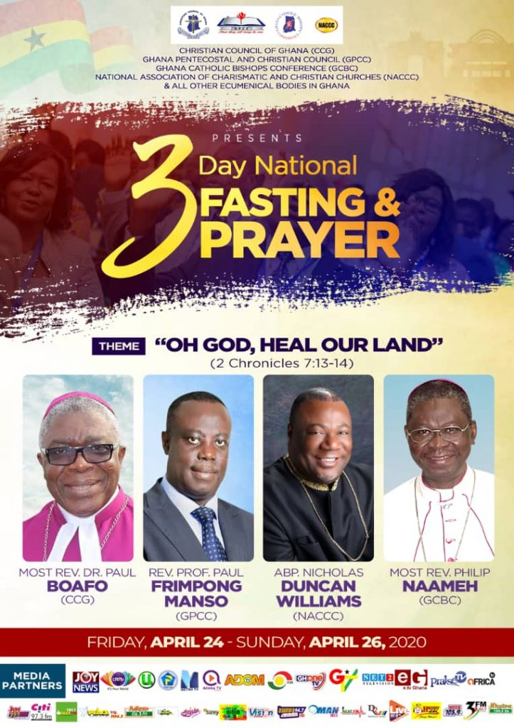 Church leaders promise to help gov't win COVID-19 fight, declare 3-day national prayer and fasting