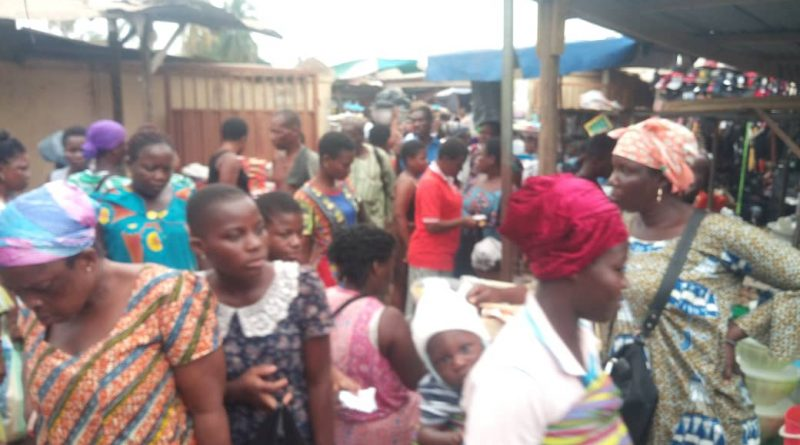 Coronavirus: Agbozume market flouts Social distance directive