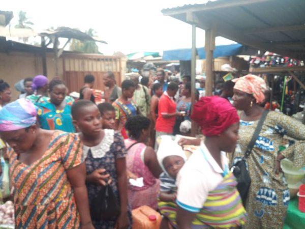 Coronavirus: Agbozume market flouts Social distance directive