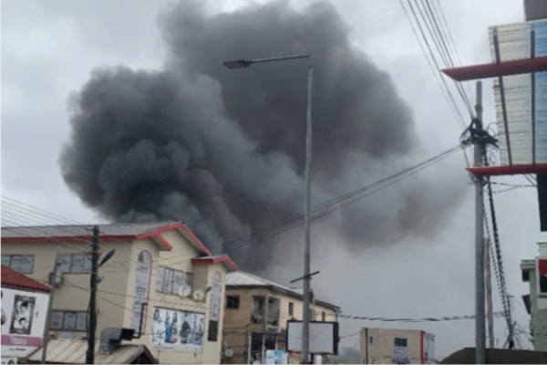 Fire guts adjoining building to Multimedia Group administrative block