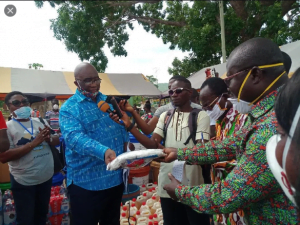 Covid – 19: Minister Of Railways Development Supports Four District Assemblies With Ppes.