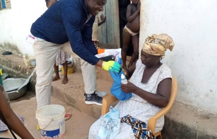 Alex Agyekum feeds over 1000 poor people in Mpohor