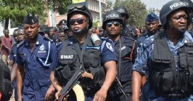 Armed Police officers deployed to ensure relocation of Covid-19 patients in Obuasi