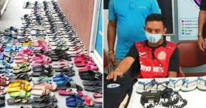 Man steals 126 slippers to 'kiss, cuddle and have sex with them' (Photos)