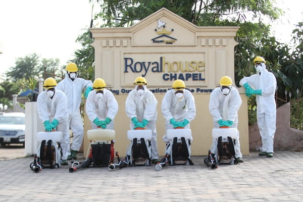 Royal House Chapel benefits from Zoomlions free disinfection
