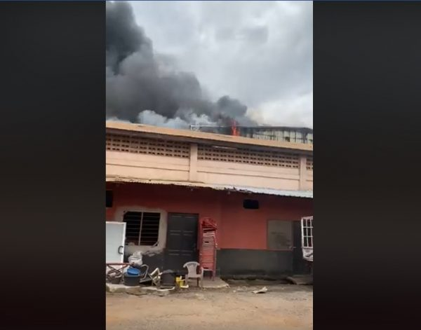Fire guts KGM Industries on the Spintex road VIDEO