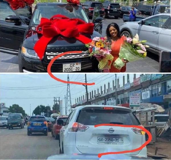 Nana Aba Anamoah's Range Rover not registered - DVLA clears the air