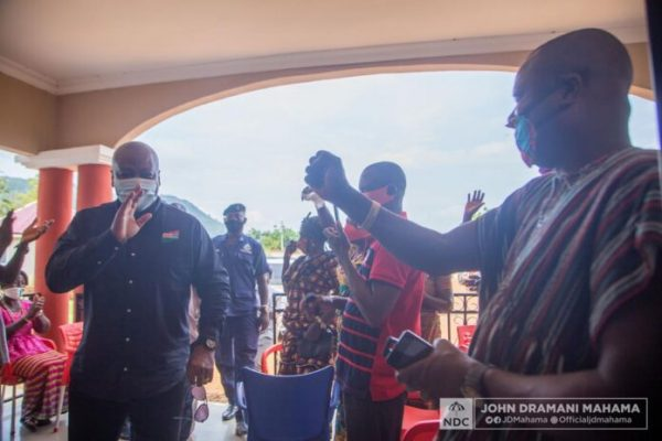 Urge your people to come out and register – Mahama appeals to Tongor chiefs