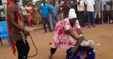 90year old lady lynched after being accused of witchcraft.