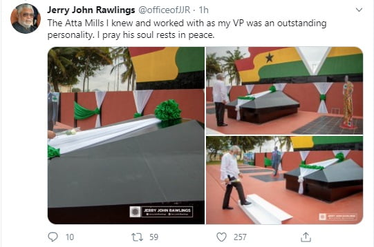 The Atta Mills I knew as Veep was an outstanding personality - JJ Rawlings