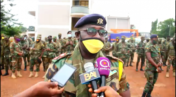 Covid-19: Ghana Army and Zoomlion Disinfects Markets Centers in the Bono Region.