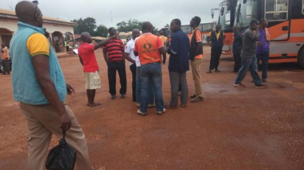Tension Heightens as Metro Mass Transit Workers Chase Out Management -[PHOTOS]