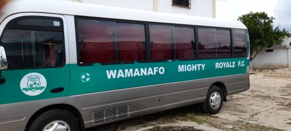 Wamanafo Mighty Royals Receive A New Bus From Us-based Partners