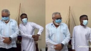 Drama as Clemento Suarez Speaks Like JJ Rawlings When They Met Face-to-Face -WATCH VIDEO