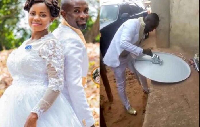 Groom Abandons Bride In Church To Fix DSTV For A Client