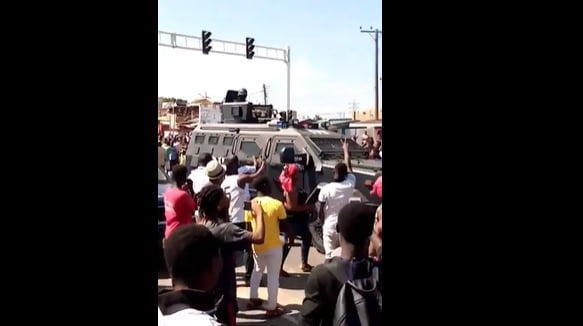 Video: Heavy Police And Military Presence At Awoshie After Residents Blocked Road