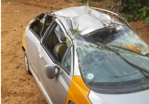 JUST IN- Four (4) EC officials involved in an accident – PHOTOS