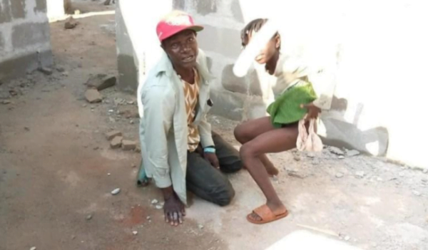 The sad news convened is that a security man was allegedly caught pants down by residents, defiling an 8-year-old girl. According to the report, the man was reportedly caught in the act on Saturday, August 22nd,2020, in a building under construction. The suspect was stripped, tied up and handed over to the police for further investigation.