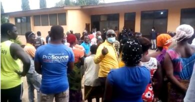 Trouble Looms As Angry Residents Attack Polyclinic Over Death of NDC Youth Organiser - SEE PHOTOS