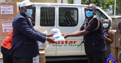 Goldstar Air Partners With E-Station To Donate PPE's To Ghana Police