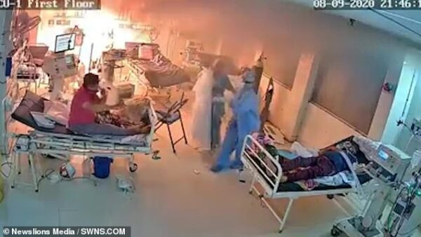 Ventilator Bursts Into Flames In COVID-19 Isolation Centre