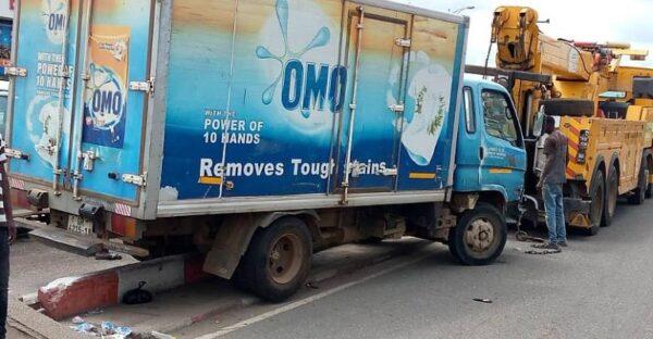 Speeding Truck Runs Over Pure Water Seller