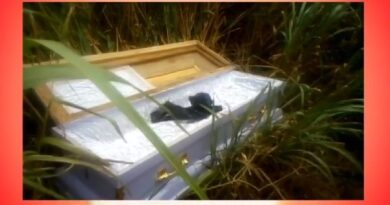 Fear Grip Residents As Coffin Pops Up By Roadside
