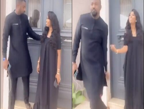 2020: Dramatic Video Of John Dumelo Snubbing His Gorgeous Wife Goes Viral