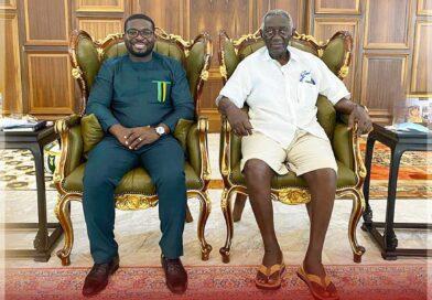 Kotoko CEO Nana Yaw Amponsah Meets Former President Kufuor