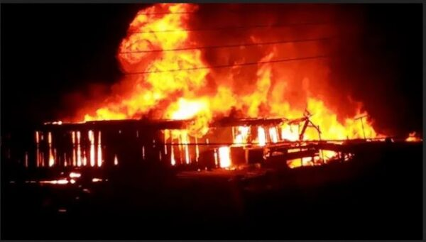 Breaking News: Fire Engulfs Dome Market