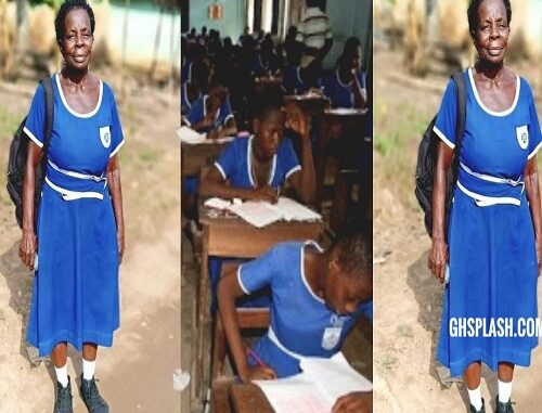 JUST IN: Meet The 60-year-old JHS Woman Writing the 2020 BECE - The Oldest BECE Candidate -S EE PHOTOS