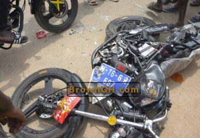 Breaking: Okada Rider Leading Mahama's Convoy Crashes Into Coma