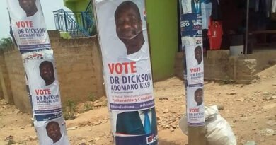 Trouble Looms in NPP as Bawumia's Face is Covered with Posters -SEE PHOTOS