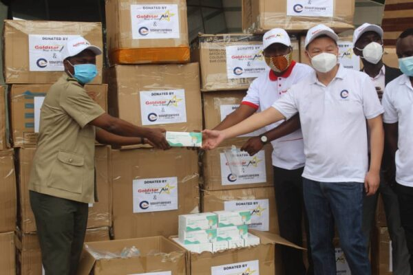 Goldstar Air, E-Station Donates PPE's To Ghana Forestry Commission