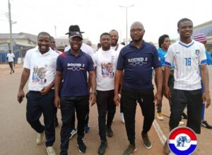 "Prof George Gyan Baffuor Leads NPP Youth Wing "" Walk 4 Agenda Double Win"" In Wenchi"