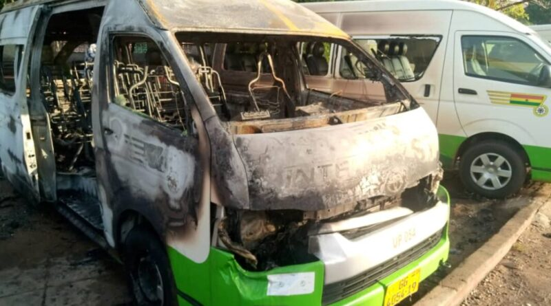 Volta Secessionists Beat STC Drivers, Burn Bus