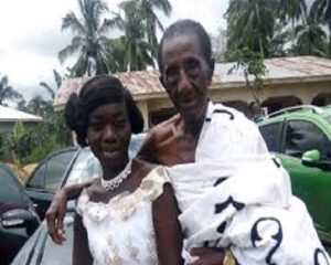 35-Year-Old Akua Asabea Explains Why She Married Her 97-Year-Old Husband