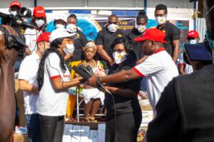 Goldstar Air, E-Station Donates PPE's To Agidor Events Beauty Pageant