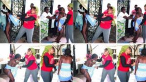 Woman Disgraces A 17 Years Old Girl After She Caught Her In Bed With Her Husband