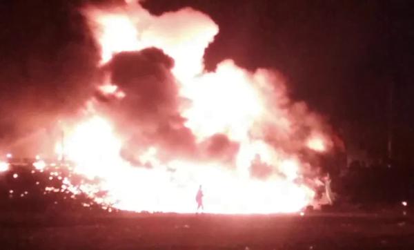 Fire destroys DVLA office