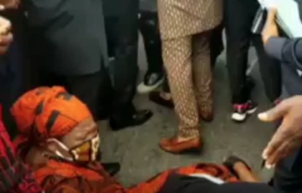 Minority MP Falls During Protest