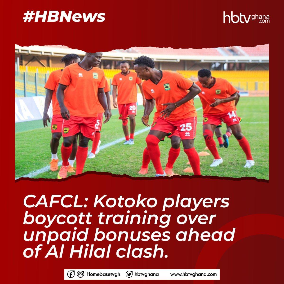 CAFCL: Kotoko Players Boycott Training Over Unpaid Bonuses Ahead of Al Hilal Clash