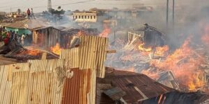 Fire Guts Wooden Structures At Dagombaline In Kumasi