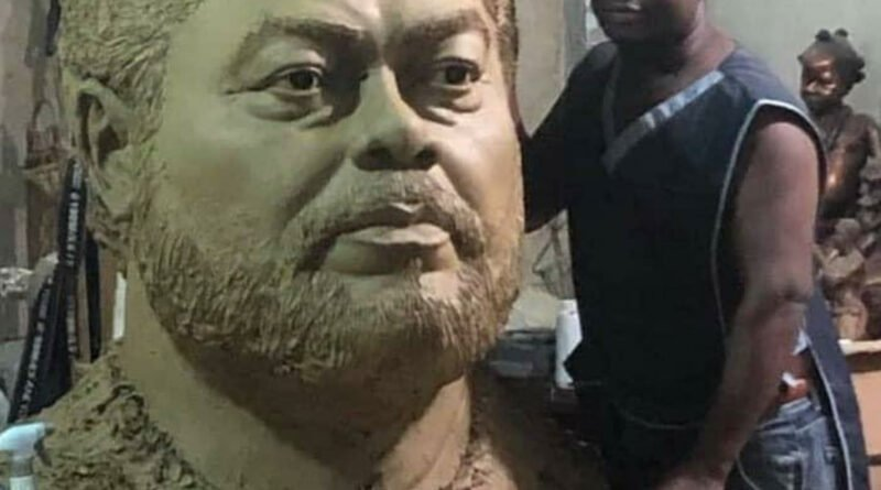 A Sculpture Of The Late JJ Rawlings Is Trending On The Internet